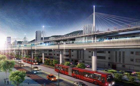 Este esperpento es la propuesta de Peñalosa: un metro elevado por la Caracas, por supuesto es una imagen para aplacar a los votantes que quieren metro, nuestro super urbanista jamás construirá esto, incluso para su estándar es demasiado cemento.