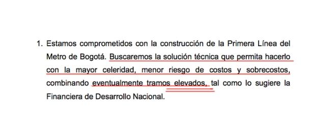 Programa de gobierno, punto 2.1