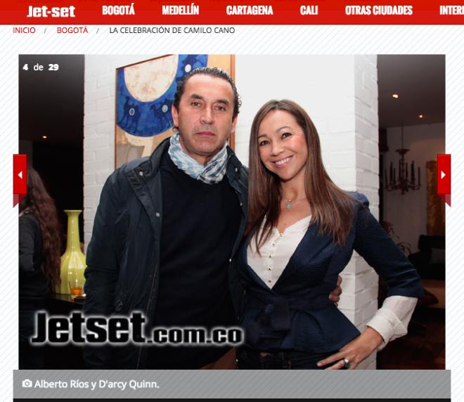 El señor Ríos y su esposa D'arcy Quinn.
