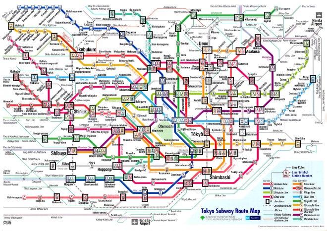 Así luce hoy el mapa del Metro de Tokio ¿es mucho pedir para Bogotá cuatro líneas?